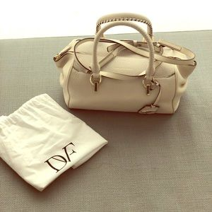 Diane Von Furstenberg White Sutra Leather PERFECT